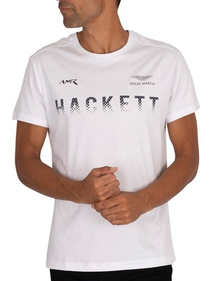 Hackett London AMR Graphic T-Shirt - White