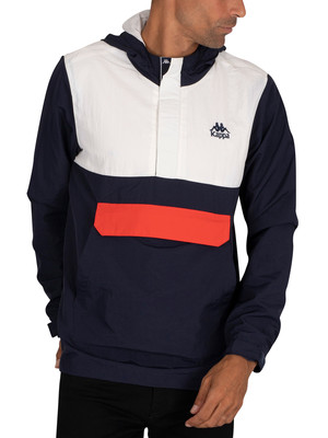 Kappa Icile Lightweight Jacket - Blue Navy/Natural Orange Reddish