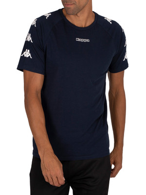 Kappa Klake T-Shirt - Blue Navy/White