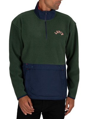 Levi's Quarter Zip Polar Fleece Sweatshirt - Varsity