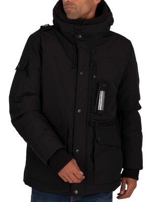 MA.STRUM Down Torch Parka Jacket - Jet Black