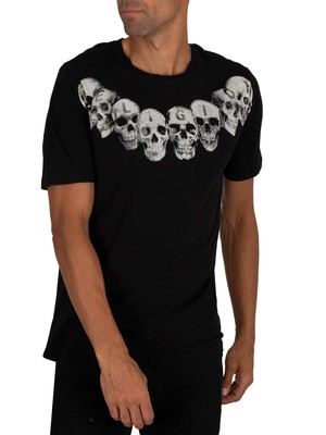 Religion Necklace Skull T-Shirt - Black