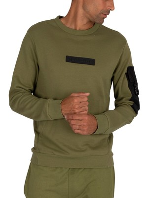 Religion Snatch Sweatshirt - Dark Olive