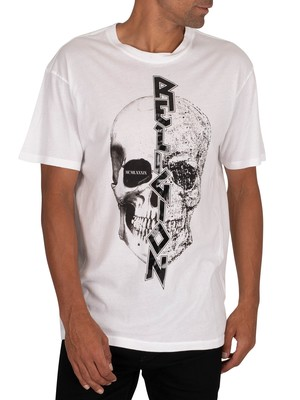 Religion Split T-Shirt - White