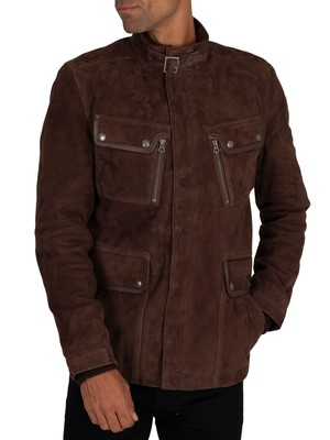 Schott Dunstall Suede Jacket - Brown