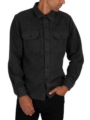 Schott Carl3 Chest Pockets Shirt - Anthracite