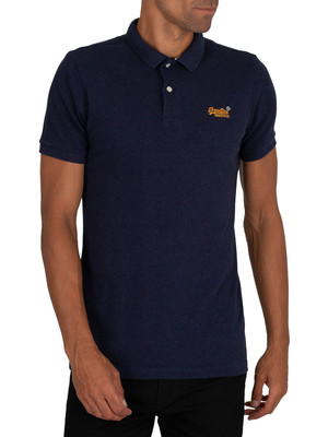 Superdry Classic Pique Polo Shirt - Mid Oasis Marl