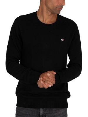 Tommy Jeans Light Blend Crew Knit - Black
