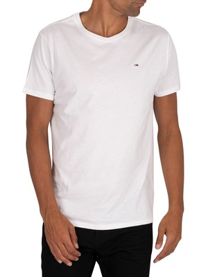 Tommy Jeans Original Jersey T-Shirt - Classic White