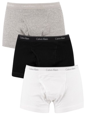 Calvin Klein 3 Pack Trunks - White/Black/Grey