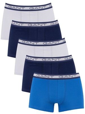 GANT 5 Pack Basic Trunks - Light Blue