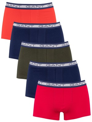 GANT 5 Pack Basic Trunks - Atomic Orange