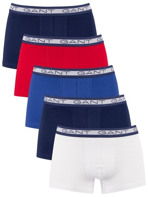 GANT 5 Pack Basic Trunks - Multicolour