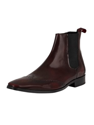 Jeffery West Chelsea Leather Shoes - Burgundy