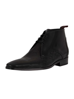 Jeffery West Derby Leather Shoes - Black