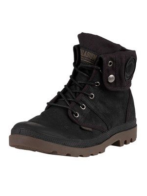 Palladium Pallabrouse Baggy Wax Boots - Black/Dark Gum
