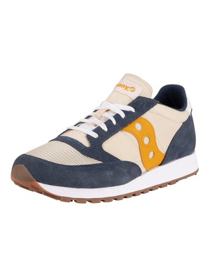 Saucony Jazz Original Vintage Suede Trainers - Denim/Tap/Curry Marine