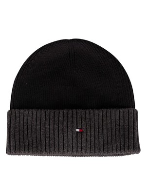 Tommy Hilfiger Pima Cotton Beanie - Black Mix