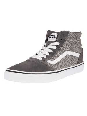 Vans Ward Hi Suede Trainers - Pewter/White