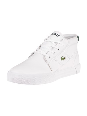 Lacoste Gripshot Chukka 01201 CMA Leather Trainers - White/Dark Green
