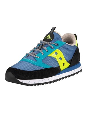 Saucony Jazz Original Peak Trainers - Blue/Black/Citron