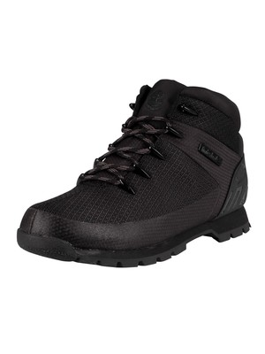 Timberland Euro Sprint Waterproof Hiker Boots - Black Knit