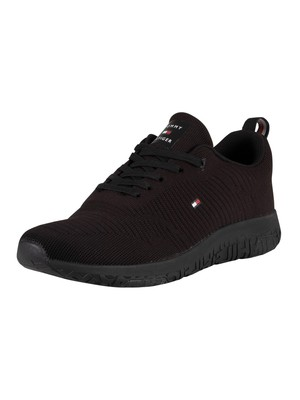 Tommy Hilfiger Corporate Mesh Trainers - Black
