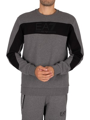 EA7 Graphic Sweatshirt - Dark Grey Marl