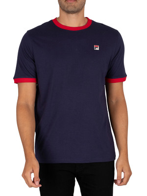 Fila Marconi T-Shirt - Peacoat/Red