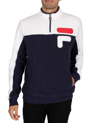 Fila Offaly Polar Fleece Sweatshirt - Peacoat/White/Red