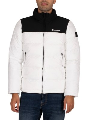 Champion Puffer Jacket - White/Black