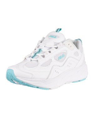 Fila Trigate Leather Trainers - White/Canal Blue