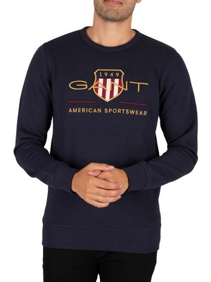 GANT Archive Shield Sweatshirt - Evening Blue