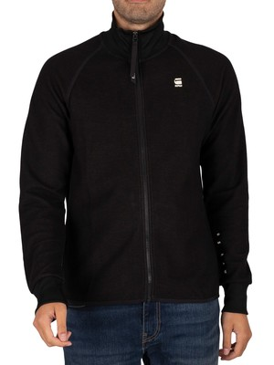 G-Star Jirgi Zip Tape Detail Funnel Track Jacket - Dark Black/Raven
