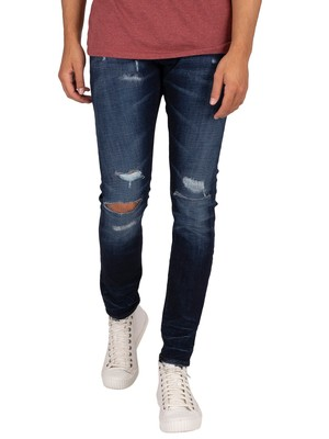 G-Star Lancet Skinny Jeans - Worn In Ripped Sapphire