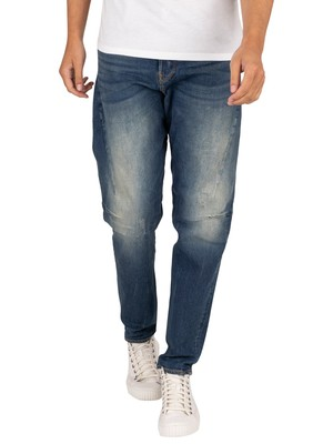 G-Star Scutar 3D Slim Tapered Jeans - Antic Faded Baum Blue