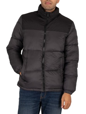 Jack & Jones Drew Puffer Collar Jacket - Asphalt