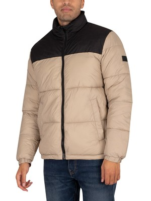 Jack & Jones Drew Puffer Collar Jacket - Crockery
