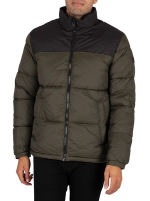 Jack & Jones Drew Puffer Collar Jacket - Forest Night