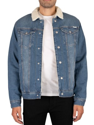 Jack & Jones Jeans Sherpa Jacket - Blue Denim