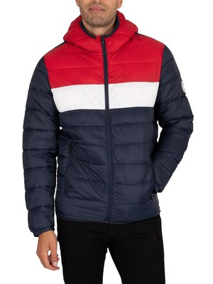 Jack & Jones Magic Hooded Puffer Jacket - Tango Red