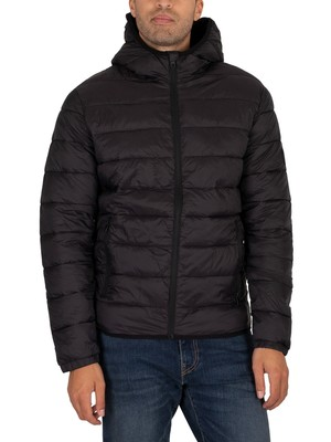 Jack & Jones Magic Hooded Puffer Jacket - Black