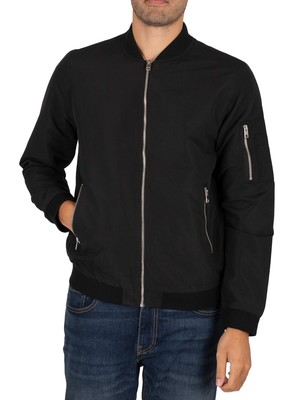 Jack & Jones Rush Bomber Jacket - Black
