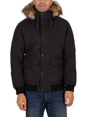 Jack & Jones Sky Bomber Parka Jacket - Black