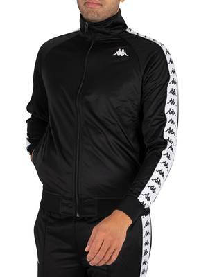 Kappa 222 Banda Anniston Slim Track Jacket - Black/White