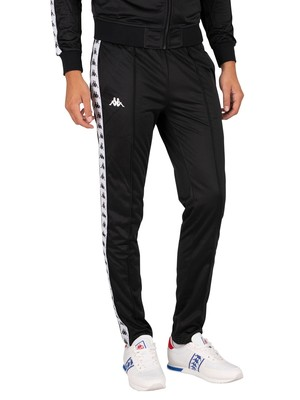 Kappa 222 Banda Astoria Slim Joggers - Black/White