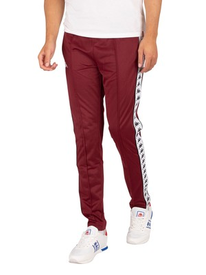 Kappa 222 Banda Astoria Slim Joggers - Red Dehlia/White