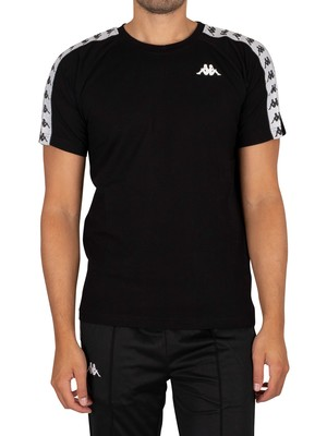 Kappa 222 Banda Coen Slim T-Shirt - Black/White