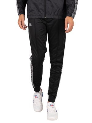 Kappa 222 Banda Connor Slim Joggers - Black/Grey Reflective
