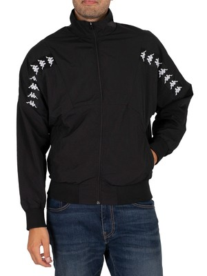 Kappa 222 Banda Delfo Jacket - Black/White